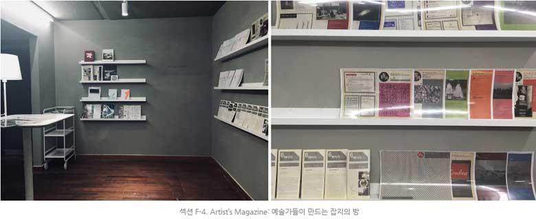 섹션 F-4. Artist's Magazine: 예술가들이 만드는 잡지의 방