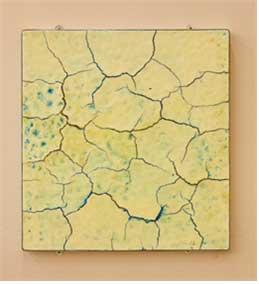[비누에 새기다], 60×53cm, 비누, 프레임, 바니쉬, 향료, 안료, 2012