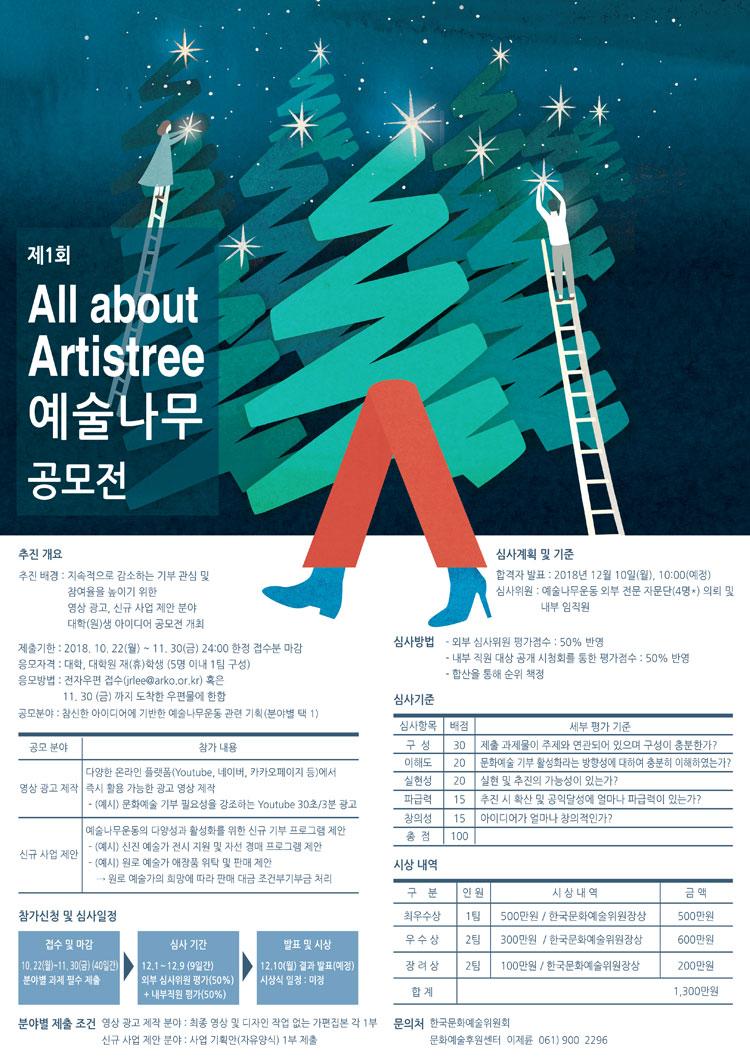제1회 'All about Artistree(예술나무)' 공모전