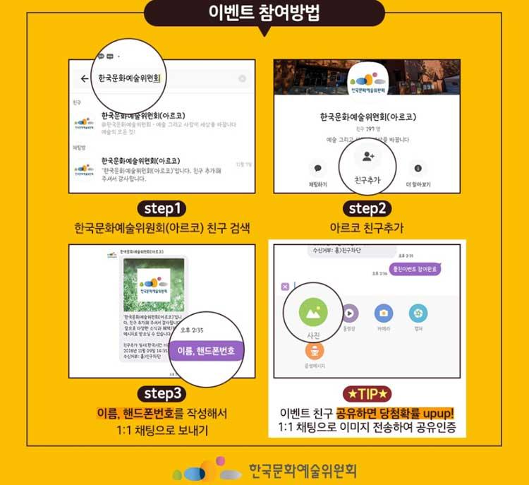 [아르코소식] 한국문화예술위원회 카카오 플친 추가 이벤트! 2